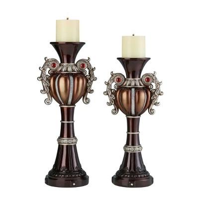 """Ok Lighting 16""""& 18""""H Delicata Candleholder Set"""