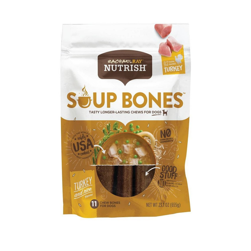 Rachael Ray Nutrish Soup Bones Dog Treats Turkey 38 Rice Flavor 23 1oz 11ct