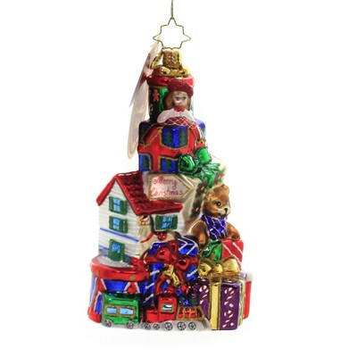 """Christopher Radko 5.75"""" Pile Of Terrific Toys Ornament Christmas Gifts Toys  -  Tree Ornaments"""