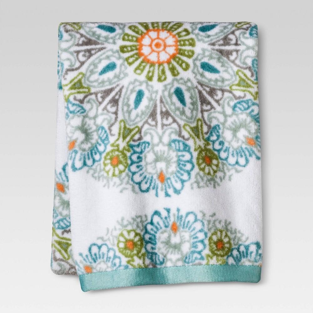 Medallion Towel Blue Threshold 8482