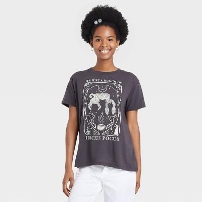 Women's Halloween Hocus Pocus Short Sleeve Graphic T-Shirt - Black