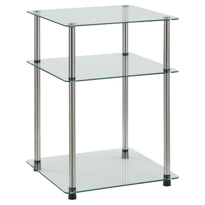 Classic Glass 3 Tier End Table Clear Glass - Breighton Home