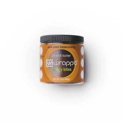 Unwrapp'd Peanut Butter Energy Bites - 3oz