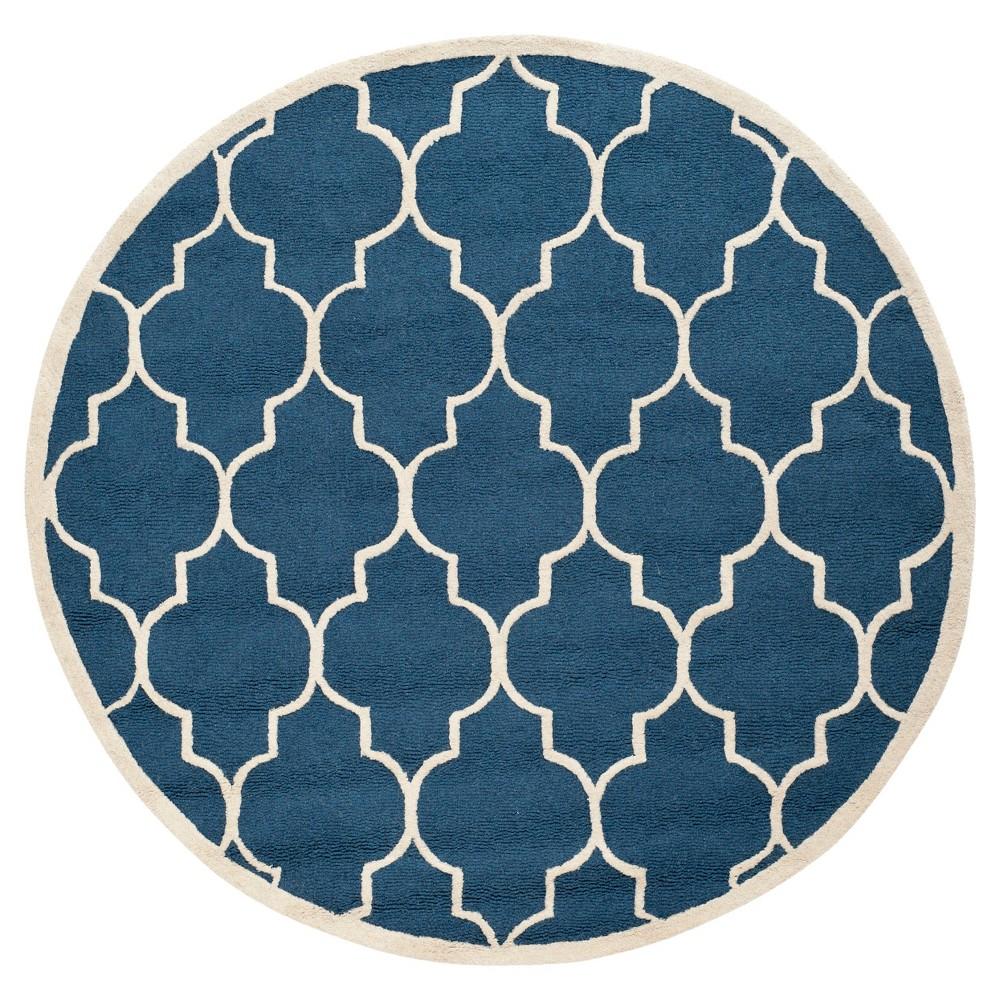 4' Geometric Accent Rug Navy/Ivory (Blue/Ivory) - Safavieh