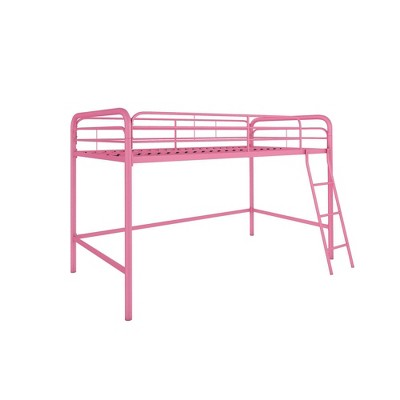 Adeline Junior Metal Loft Bed Pink - Room & Joy