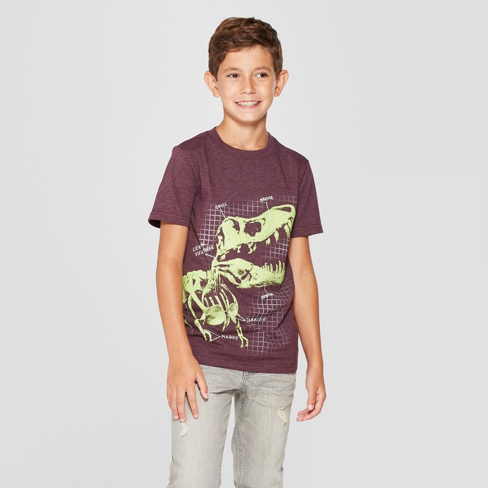 Boys' Dino Skeleton Short Sleeve Graphic T-Shirt - Cat & Jack Purple XS
