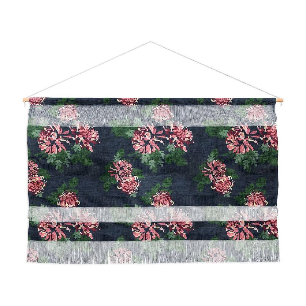 47 34 X 32 34 Holli Zollinger Chrysanthemum Twilight Wall Hanging Pink Deny Designs
