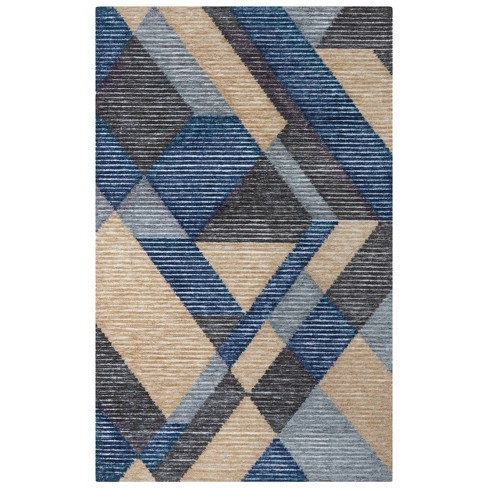 Vista Geometric Recycled Poly Area Rug - Rizzy Home - image 1 of 4