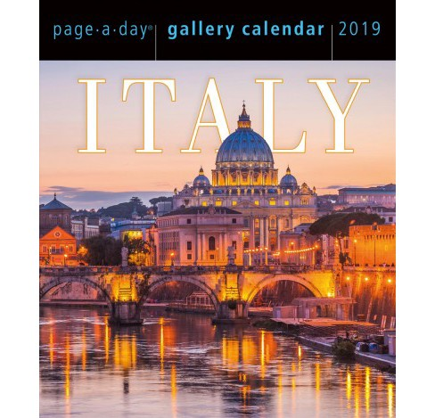 Italy Gallery 2019 Calendar -  (Paperback) - image 1 of 1