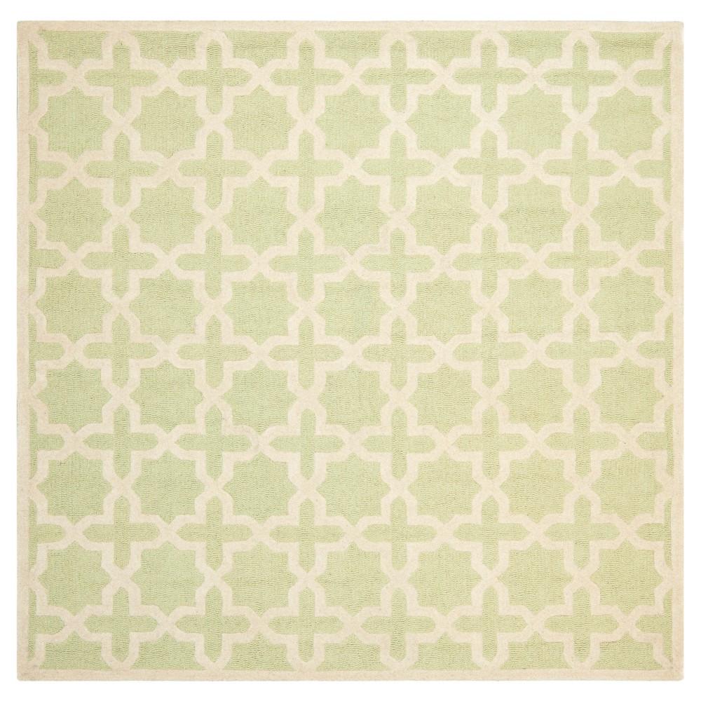 8' x 8' Marnie Rug - Safavieh, Light Green/Ivory