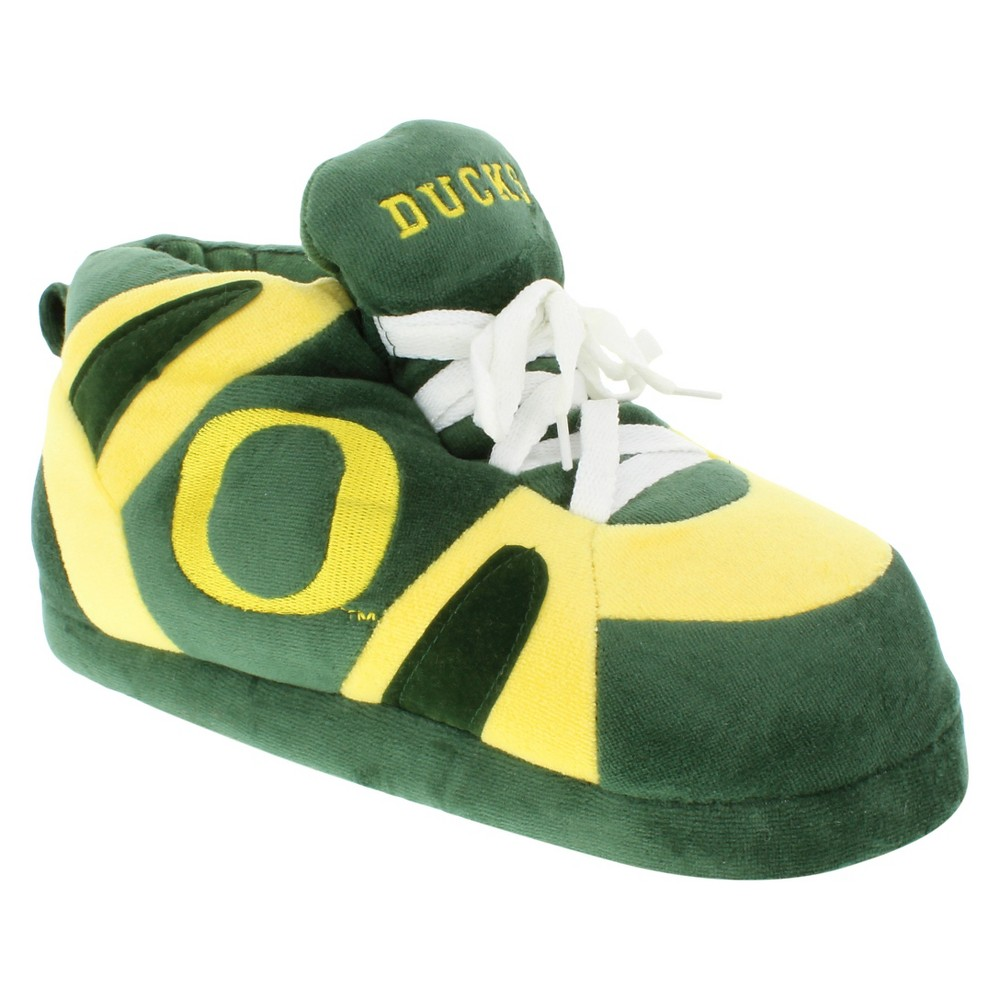 NCAA Oregon Ducks Adult Comfy Feet Sneaker Slippers - Green/Yellow M, Adult Unisex, Multicolored