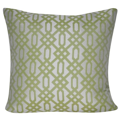 Indoor/Outdoor Lattice Throw Pillow - Loom and Mill - image 1 of 2