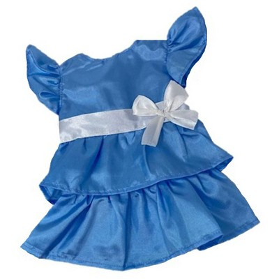Doll Clothes Superstore Blue Ruffle Dress Fits `15-16 Inch Baby Dolls