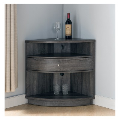 Varela Contemporary Corner Cabinet TV Stand Distressed Gray   HOMES: Inside  + Out : Target