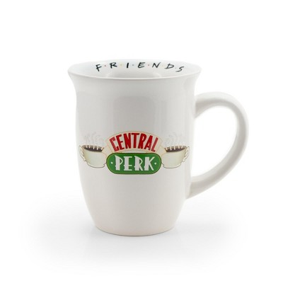 Silver Buffalo Friends Central Perk Flared Rim Collectible Ceramic Coffee Mug | Holds 16 Ounces