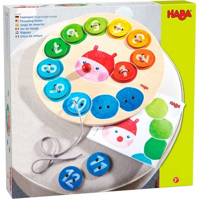 HABA Threading Game Counting Rainbow Caterpillar