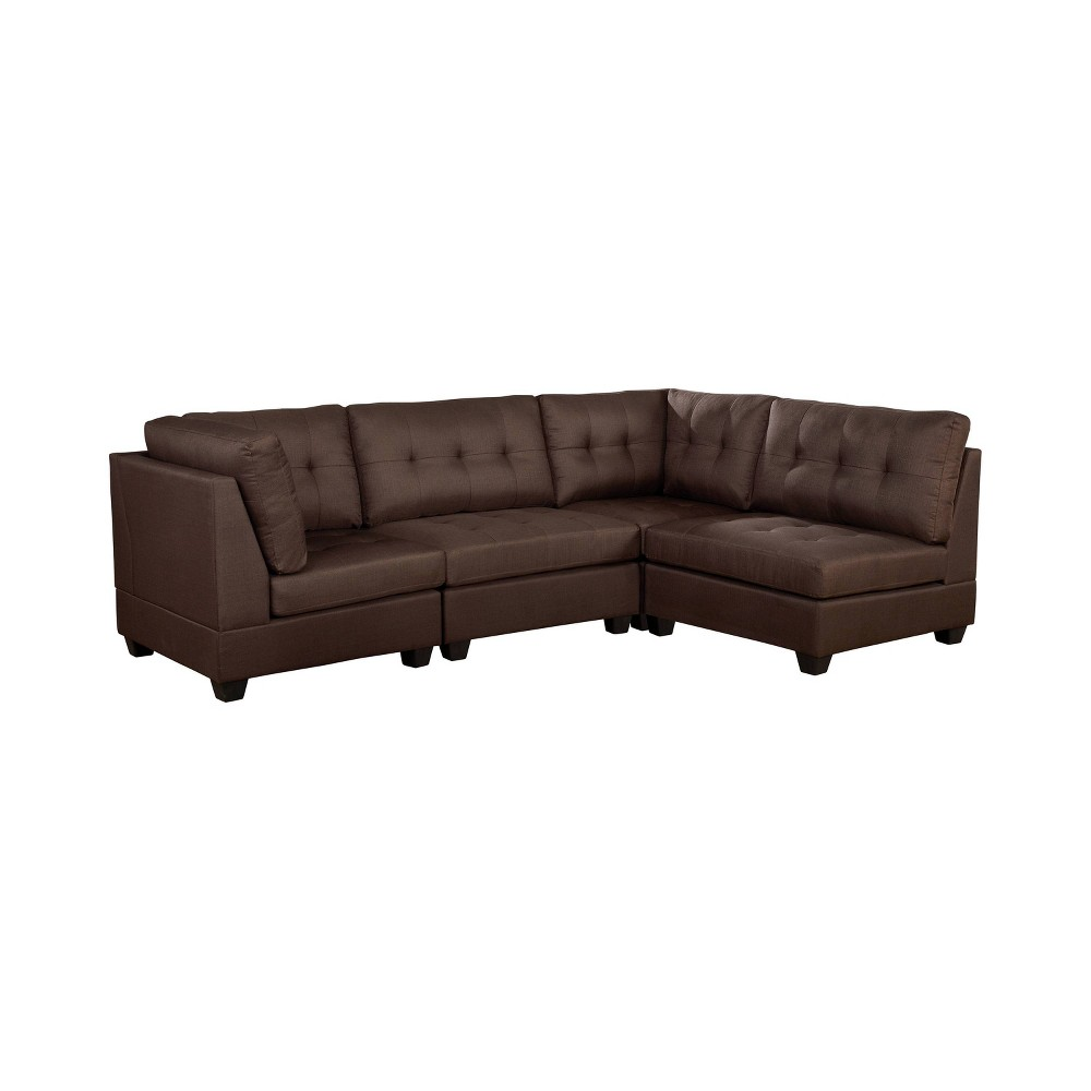 Image of Huxon Tufted Sectional Brown - ioHOMES