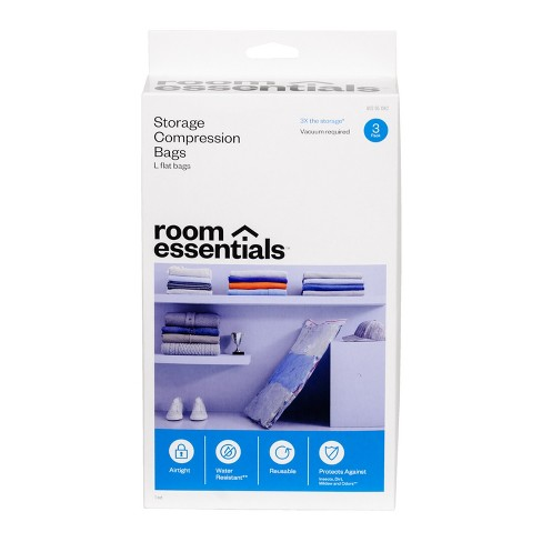 Compression Bags 3 Large Clear - Room Essentials™ - image 1 of 4