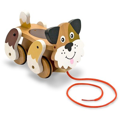 Melissa & Doug® Playful Puppy Wooden Pull Toy for Beginner Walkers