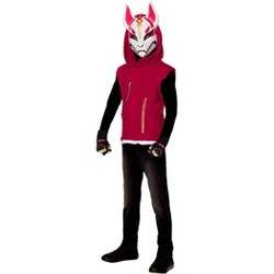 Kids' Fortnite Drift Halloween Costume Top with Mask