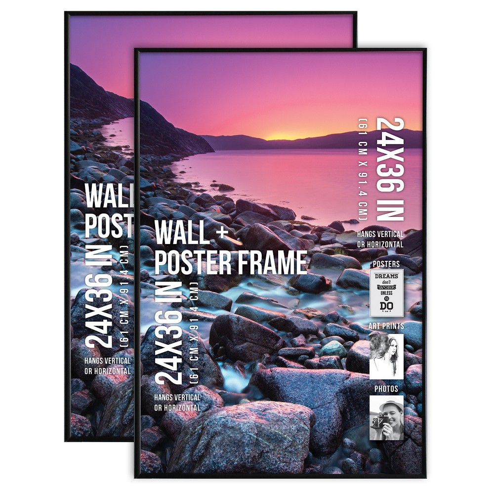 "Image of ""Poster Frame Thin Profile - Black - 2pk (24""""x36"""")"""