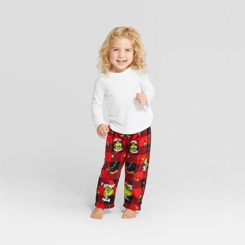 5e6bac191 Toddler Dr. Seuss The Grinch Holiday Pajama Pants -   Target