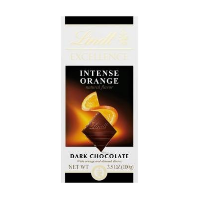 Lindt Excellence Intense Orange Dark Chocolate Bar - 3.5oz