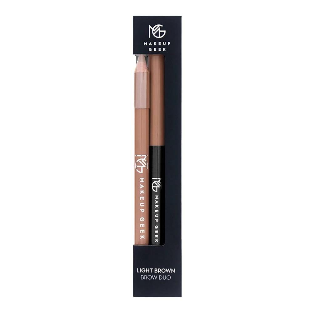 Image of Makeup Geek Brow Duo Light Brown Pencil & Light Brown Retractable Liner - .06 oz (Pencil) & .09oz (Retracable Pencil)