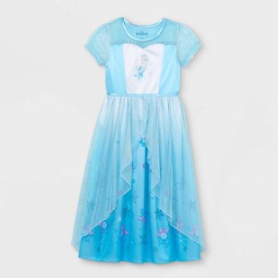 Girls' Frozen Elsa Nightgown - Blue