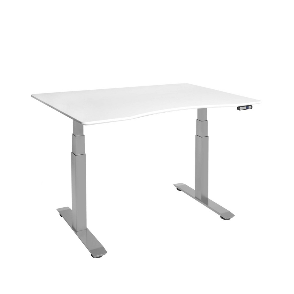 Image of Airlift S3 Height Adjustable Standing Desk Frame with 4 Memory Buttons White - Seville Classics