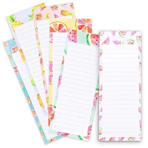 6 Pack Magnetic Notepad Grocery List To Do Shopping Note Pad Reminders For Fridge Refrigerator Magnet Memo Colorful Fruit Designs 3 5x9 Target