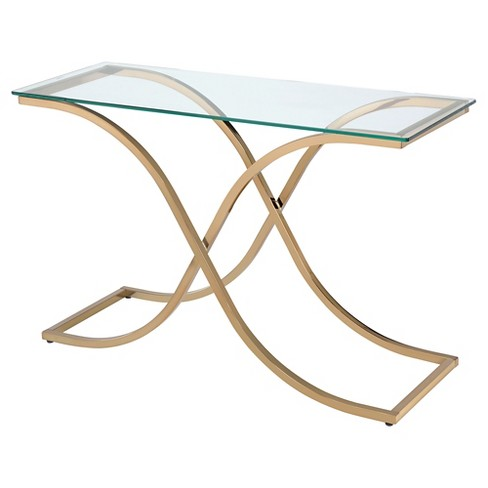 Leah Console Table Champagne - ioHOMES - image 1 of 3
