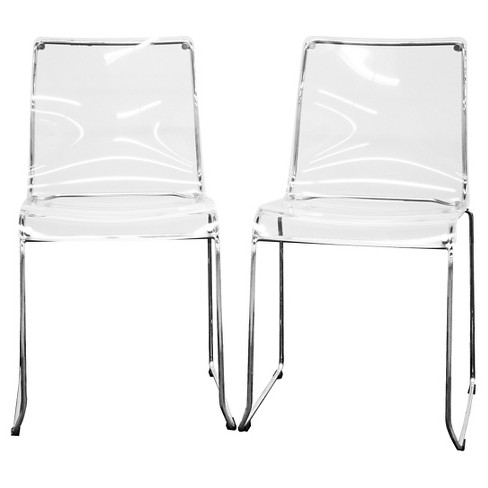 Lino Transparent Acrylic Dining Chair - Clear (Set Of 2) - Baxton Studio - image 1 of 2