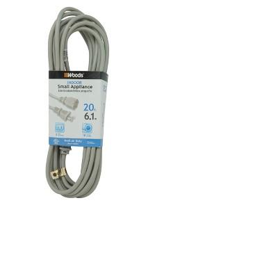 Woods 20' Vacuum Cord Gray