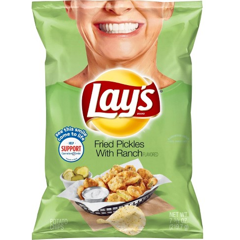 Lays Fried Pickles with Ranch - 7.75oz - image 1 of 2
