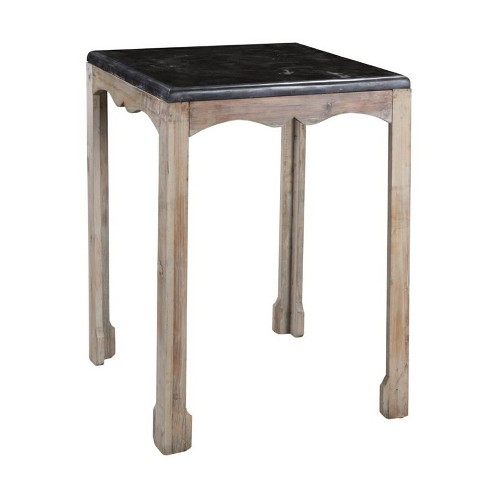 Wood Accent Table in Gray Wash Brown-Burnham Home Designs - image 1 of 1
