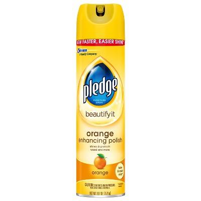 Pledge Orange Enhancing Polish - 9.7oz