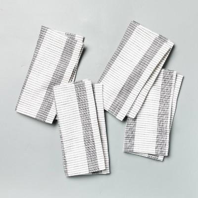 4pk Bold Stripes Napkin Set Dark Gray - Hearth & Hand™ with Magnolia