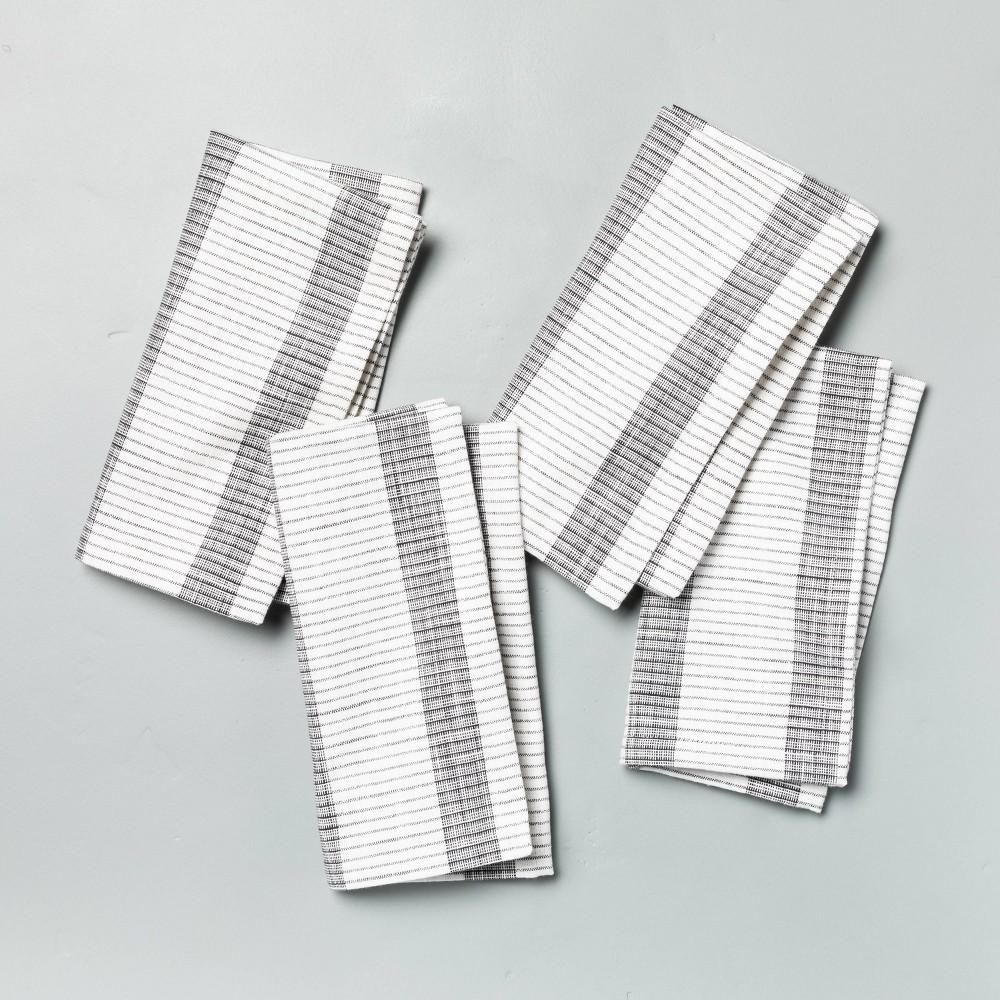 4pk Bold Stripes Napkin Set Dark Gray Hearth 38 Hand 8482 With Magnolia