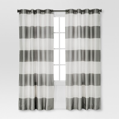gray and white curtains Bold Curtain Panel   Threshold™ : Target gray and white curtains