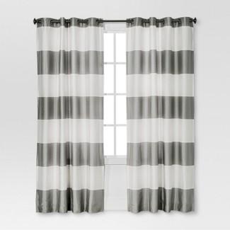 "Bold  Curtain Panel Gray (54""x84'') - Threshold™"