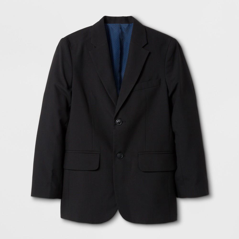 Big & Tall Boys' Suit Jacket - Cat & Jack Black 16 Husky, Size: Husky 16