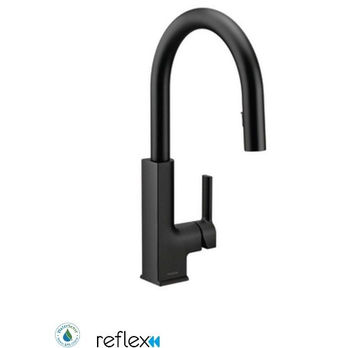 Moen S72308 Sto 1 5 Gpm Single Hole Pull Down Kitchen Faucet With Reflex Matte Black Target