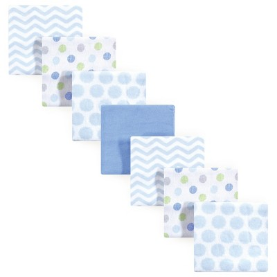 Luvable Friends Baby Boy Cotton Flannel Receiving Blankets, Blue, One Size