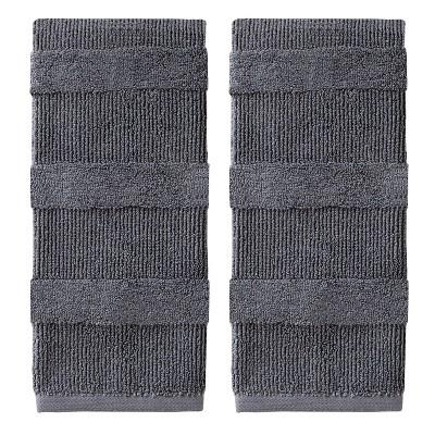 2pk Efrie Hand Towel Set Gray - SKL Home