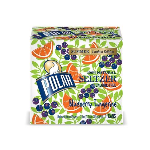 Polar Blueberry Tangerine Seltzer - 6pk/12 fl oz Cans - image 1 of 1
