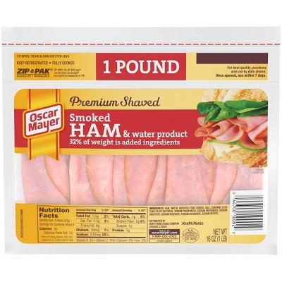 Oscar Mayer Premium Shaved Smoked Ham - 16oz