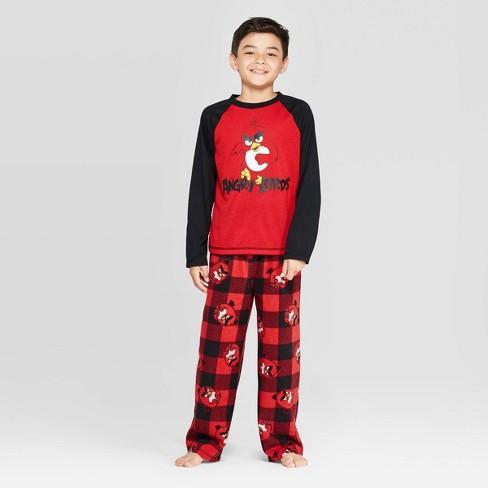Boys' Angry Birds 2pc Pajama Set - Red - image 1 of 3