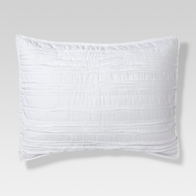 White Raw Edge Quilted Sham (Standard)- Threshold™