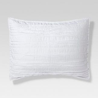 White Raw Edge Quilted Sham (Standard) - Threshold™